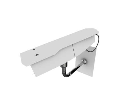 CCTV camera viewed from above. High quality 3d illustration, isolated on a white background. Stock Illustration - 5741951