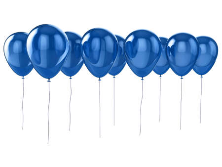 Shiny blue balloons isolated on a white background. Stock Photo - 5741950