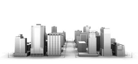 3d illustration of a fictional city.