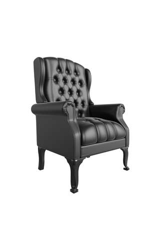 Classic glossy black chair, isolated on a white background Standard-Bild