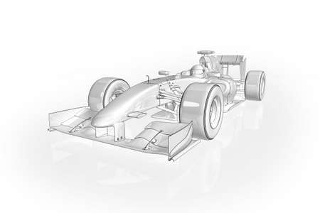 High quality illustration of an Formula 1 racing car Stock Photo