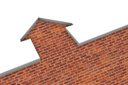 Conceptual illustration of a brick house Stock Photo