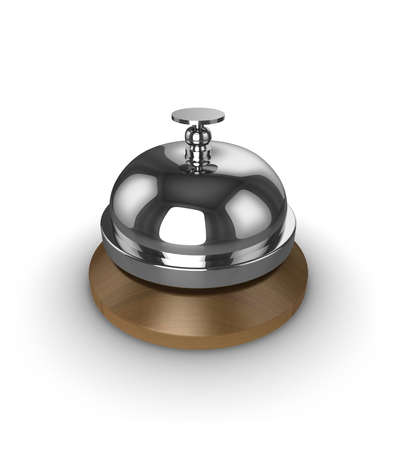 reservation: Reception desk bell, isolated on a white background.