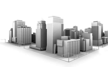 Illustration of a fictional city Stock Illustration - 5793096