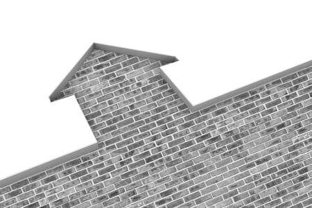 Conceptual illustration of a brick house illustration