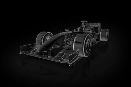 contorno: Ilustraci�n de alta calidad de un autom�vil de carreras de F�rmula 1  Foto de archivo