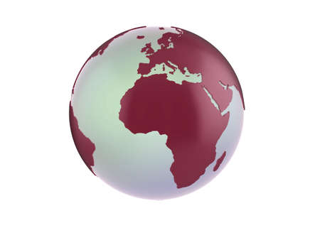 Quality illustration of a red 3d globe. Stock Illustration - 5884627