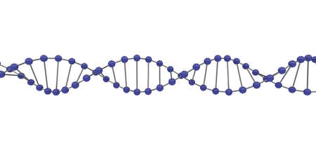 3d representation of dna, on a white background