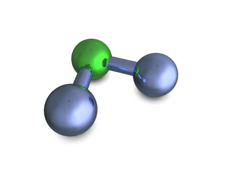 3d illustration representing H20 (Water) molecule illustration