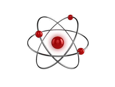 3d illustration of a science, or atom symbol, isolated on a white background Stock Illustration - 5919934