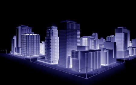 Illustration of a fictional city Stock Illustration - 6055191