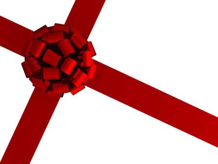wraps: 3D arco de envoltorio de regalo y cinta sobre un fondo blanco