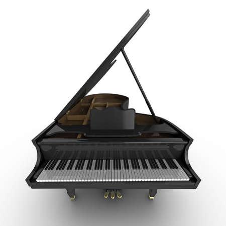 piano de cola: Ilustraci�n de alta calidad de un piano de cola negra  Foto de archivo