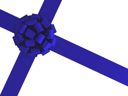 3d gift wrap bow and ribbon on a white background photo
