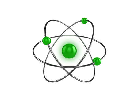 3d illustration of a science, or atom symbol, isolated on a white background Stock Illustration - 6220279