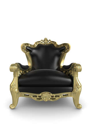 Gold antique armchair illustration. Isolated on a white background illustration
