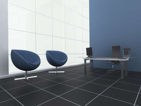 Modern, stylish office or reception area Stock Photo