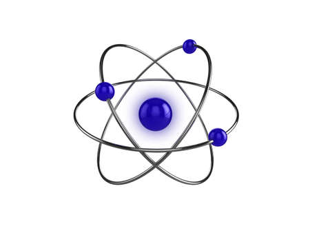 3d illustration of a science, or atom symbol, isolated on a white background Stock Illustration - 6558250
