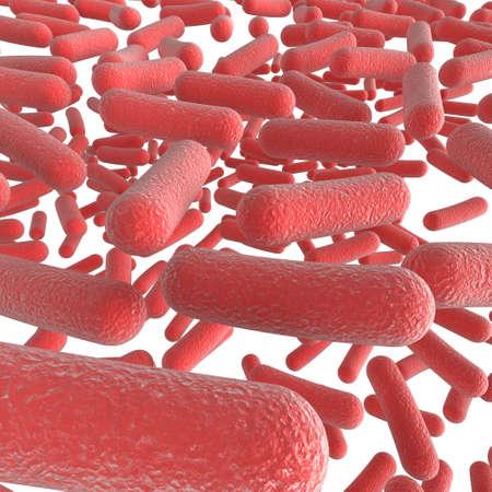 3d close up image of bacteria Standard-Bild