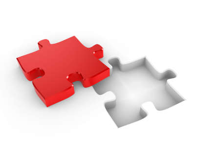 missing piece: The missing piece of a puzzle, fitting into place