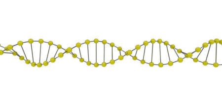 3d representation of dna, on a white background Stock Photo - 6797314