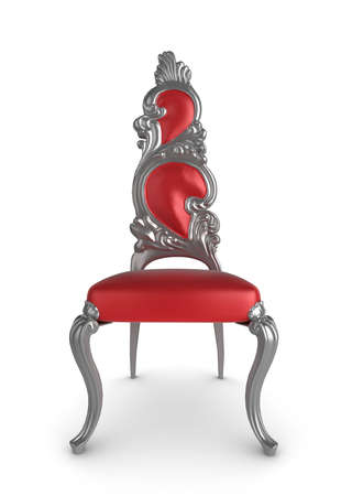 Redsilver antique chair on a white background photo