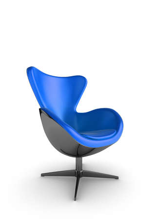 designer chair: Illustration of a stylish designer chair on a white background Stock Photo