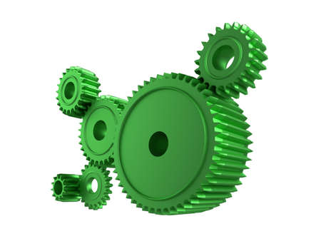 3d illustration of cogsgears on a white background illustration