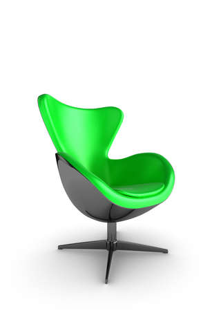 easy chair: Illustration of a stylish designer chair on a white background Stock Photo