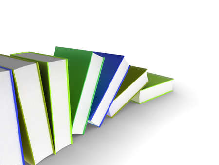 3d illustration of a row of books Stock Illustration - 8238797
