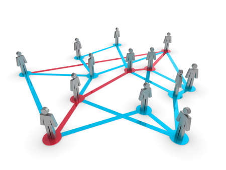 Illustration representing a network of connected people on a white background Stock Illustration - 8238800