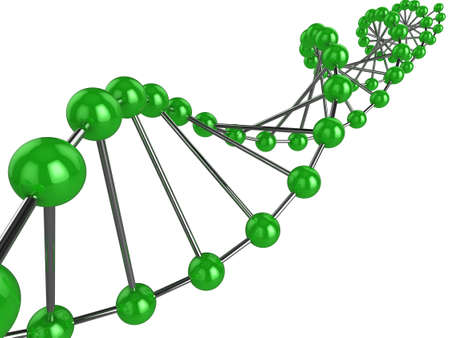 3d representation of DNA on a white background Stock Photo - 8327302