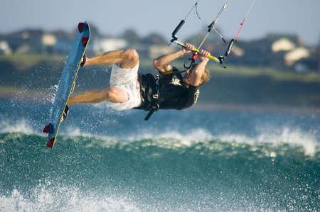 boarder: The Kite Boarder Stock Photo