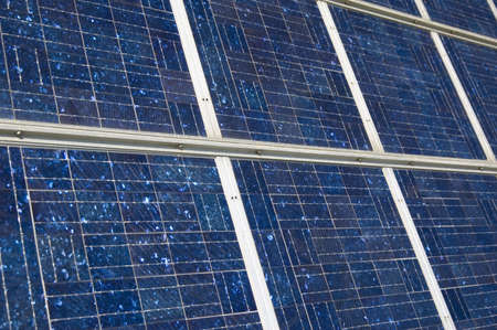 closeup view of solar panels Stock Photo - 851422