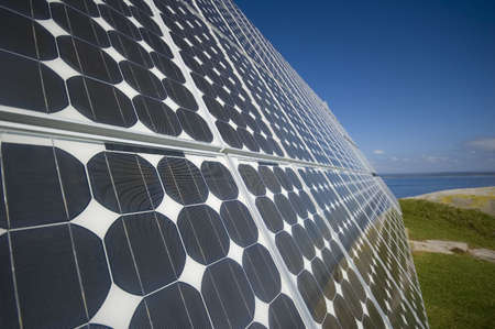 closeup view of solar panels Stock Photo - 851414