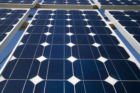 closeup view of solar panels Stock Photo - 851417