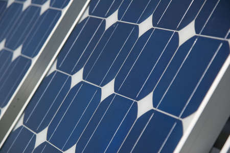 closeup view of solar panels Stock Photo - 851419