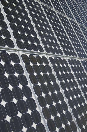 closeup view of solar panels Stock Photo - 851420