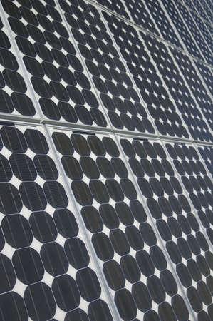 voltaic: closeup view of solar panels