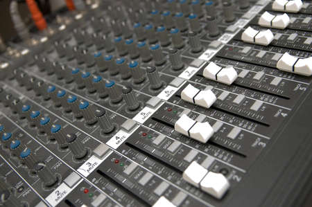 closeup view of a DJ's mixing desk Stock Photo - 1668923