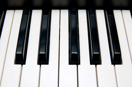 synthesiser: closeup view of a keyboard Stock Photo