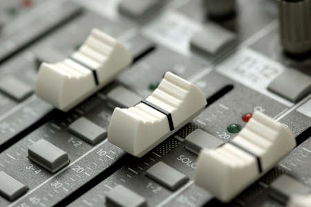 closeup view of a DJ's mixing desk Stock Photo - 1668893