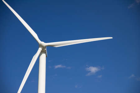 energies: wind turbine against a blue sky background