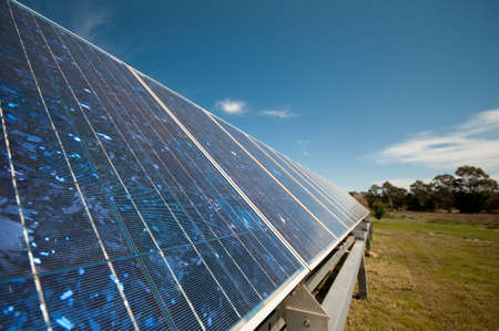 solar panel on a property used to power self sufficient living.  Part of a series Stock Photo - 5865532