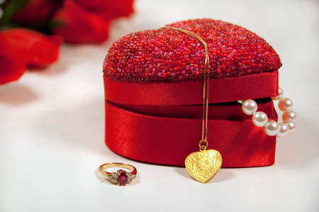 celebrate both chinese new years and valentines day on feb 14th with a tiger gold pendant Stock Photo