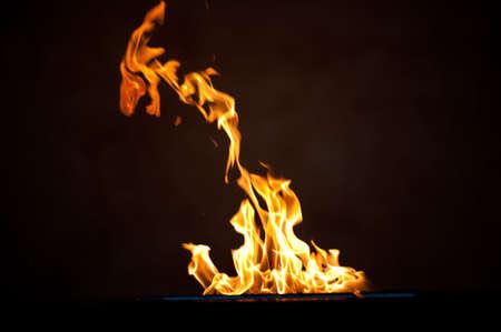 expanding flames Archivio Fotografico