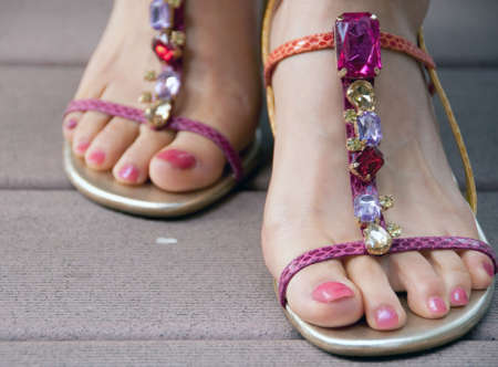 bling bling feet for summer Stock Photo - 7256596