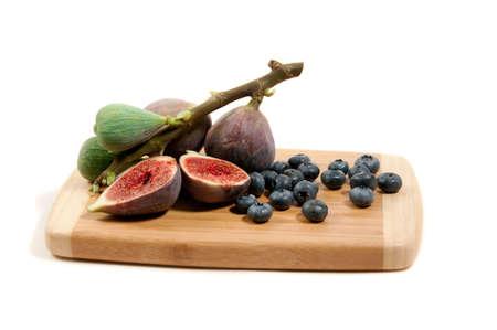 fig and blueberries still life Banco de Imagens