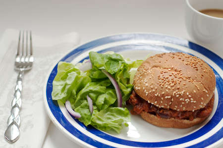 sloppy joe made with meatless soy