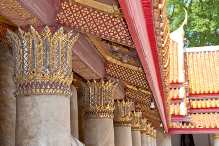 golden rooftop at thai buddhist temple